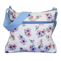 Violet Print Cross Body Bag - Duck Egg AVAILABLE JAN 19