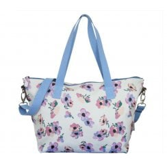 Violet Print Tote Bag - Duck Egg AVAILABLE JAN 19