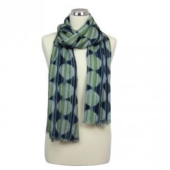 Abstract Circles Modal Scarf - Dill