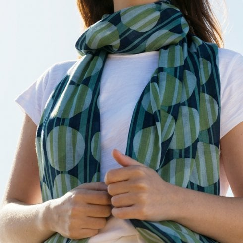 Peony Abstract Circles Scarf