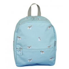 Beagle Print Backpack - Duck Egg