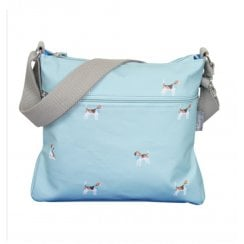 Beagle Print Cross Body Bag - Duck Egg
