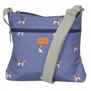 Beagle Print Cross Body Bag - Navy