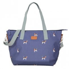 Beagle Print Tote Bag - Navy DUE AUGUST