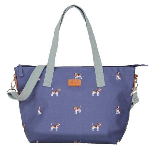 Peony Beagle Print Tote Bag