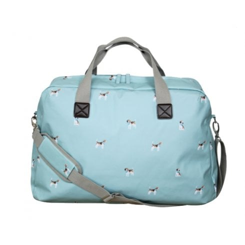 Peony Beagle Print Weekend Bag - Duck Egg
