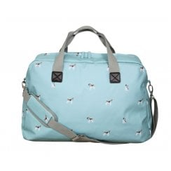 Beagle Print Weekend Bag - Duck Egg