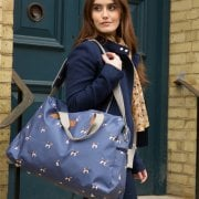 Beagle Print Weekend Bag - Navy