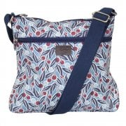 Berries Print Cross Body Bag - Blue