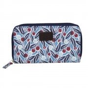 Berries Print Purse - Blue