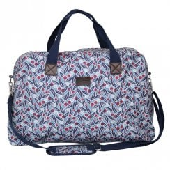 Berries Print Weekend Bag - Blue