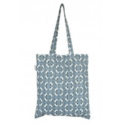 Cat Print Shopper Bag - Blue