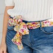 Emily Floral Print Silk Scarf