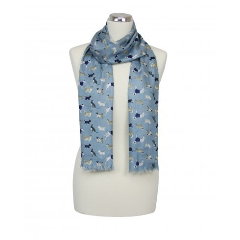 Peony Everyday Dog Print Scarf