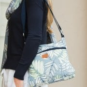 Garden Fern Cross Body Bag - Blue