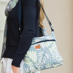 Garden Fern Cross Body Bag - Blue
