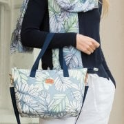 Garden Fern Tote Bag - Blue