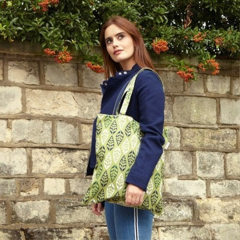Peony Grenoble Forest Shopper Bag - Dill
