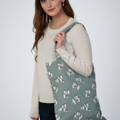 Happy Feet Shopper Bag - Duck Egg