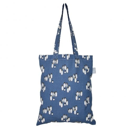 Peony Happy Feet Shopper Bag - Navy DUE AUGUST