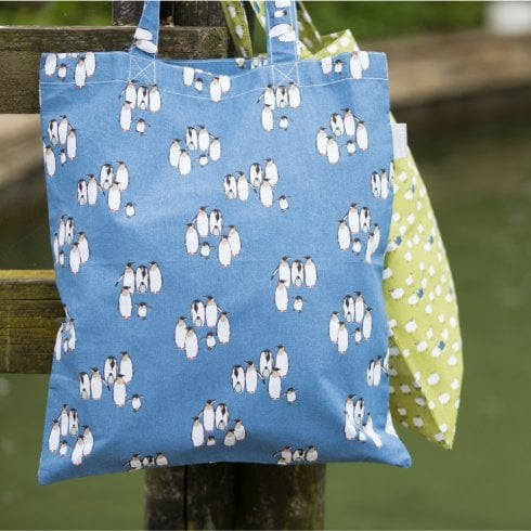 Peony Happy Feet Shopper Bag - Navy