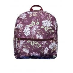 Hydrangea Print Backpack - Plum