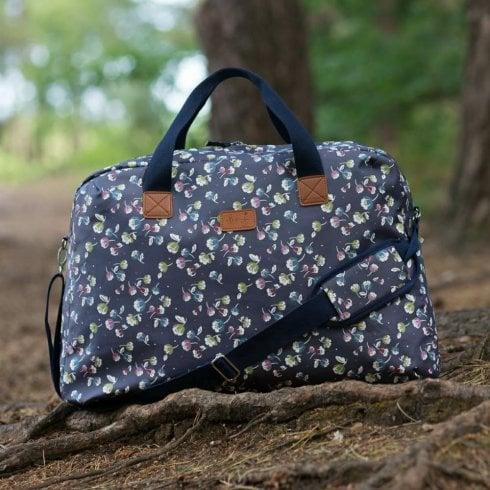 Peony Jasmine Navy Weekender Bag