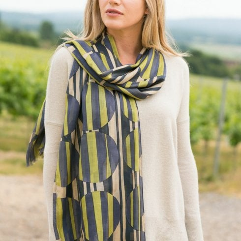 Peony Large Abstract Circles Scarf