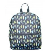 Leaves Print Backpack - Charcoal