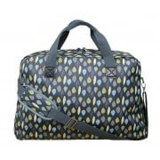 Leaves Print Weekend Bag - Charcoal