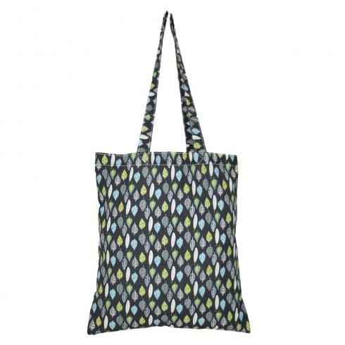 Peony Leaves Shopper Bag - Charcoal