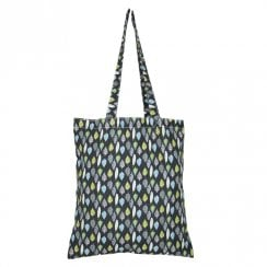 Leaves Shopper Bag - Charcoal