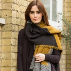 Cut About Shawl - Gold/Grey AVAILABLE AUGUST