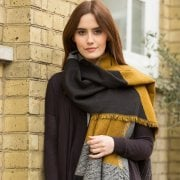 Cut About Shawl - Gold/Grey