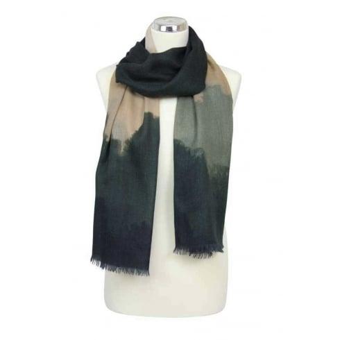 Peony London Digital Print - Fine Wool/Silk - Faded Camouflage Design