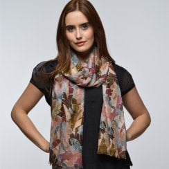 Leaves Design Digital Print Scarf