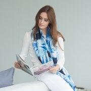 Marbles Print Silk Scarf