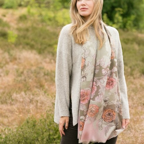 Peony London NEW Claire Print Scarf