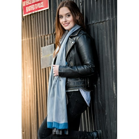 Peony London SALE - London Collection - Edge Stripe Tassled Scarf