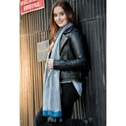 SALE - London Collection - Edge Stripe Tassled Scarf