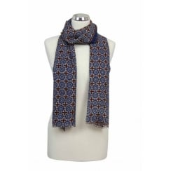 SALE - Wool Shawl - Mosaic Print