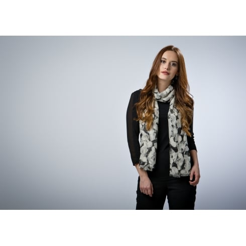 Peony London Supersoft Modal - Painted Petals Print Scarf