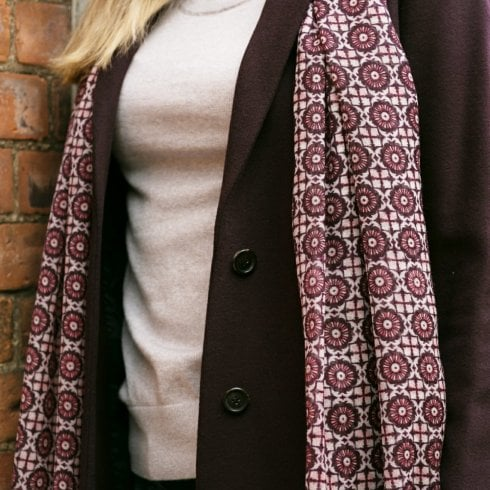 Peony London Wool Shawl - Mosaic Print