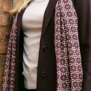 Wool Shawl - Mosaic Print