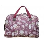 OFFER Hydrangea Print Weekend Bag - Plum