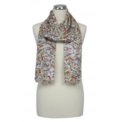Painted Birds design Scarf