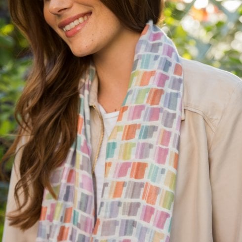 Peony Patches Print Scarf