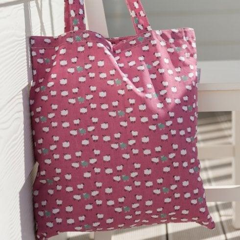Peony Sheep Shopper Bag