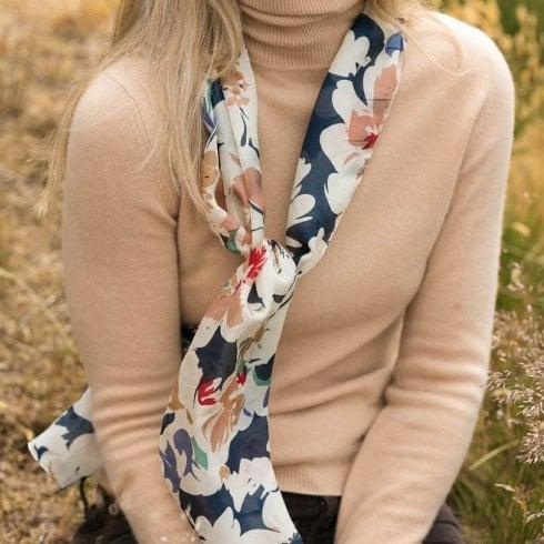 Peony Silk Rachel Scarf
