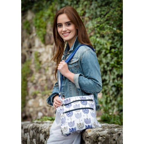 Peony Tulip Print Cross Body Bag